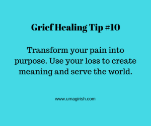transform pain into purpose