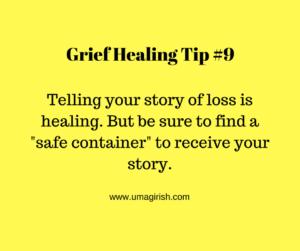 grief healing tip
